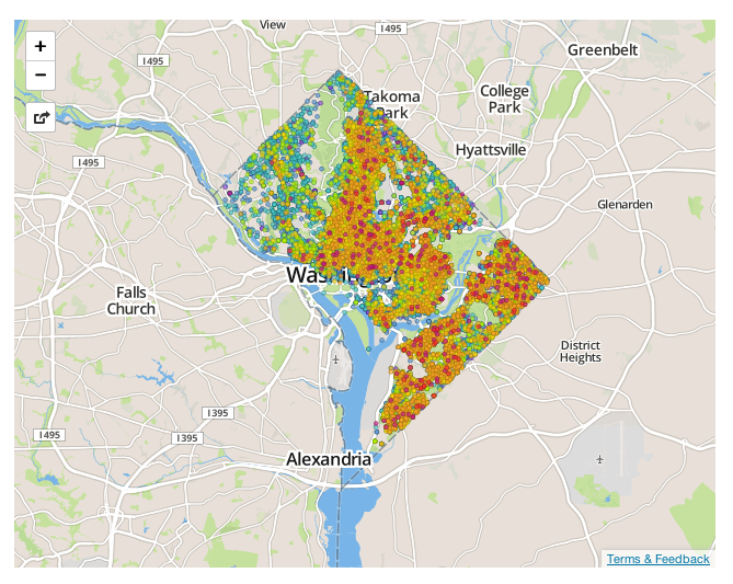 Petworth Dc Map.Off The Market Crime In Your Neighborhood Exposed Brick Dc